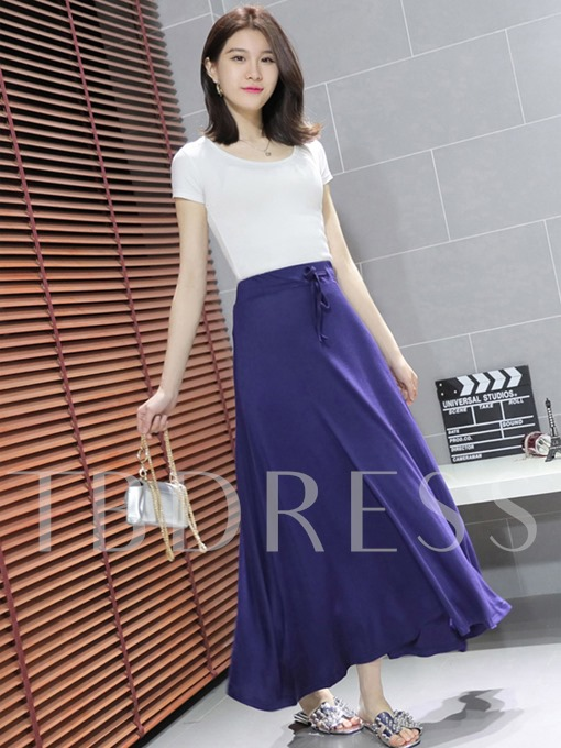 Plain Casual Loose Women's Skirt