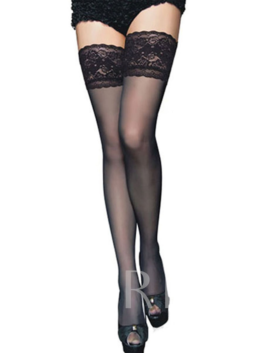 Floral Lace Women's Sheer Stockings Compression Socks