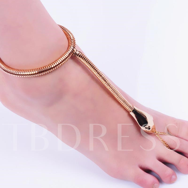 Unique Serpentine Alloy Anklet