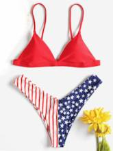European Star Pattern Fashion Bikini