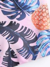 Fruit Pattern Print Chest-Wrap Bikini