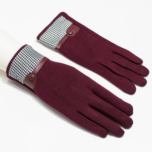 Winter Lovely Fur Outdoor Cycling Warm Wind Gloves