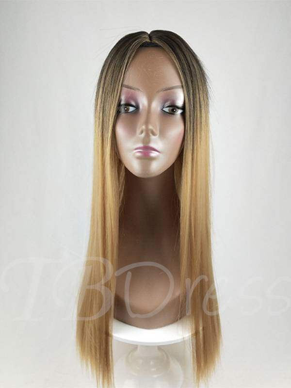 Long Natural Straight Synthetic Hair Capless Wig For Women