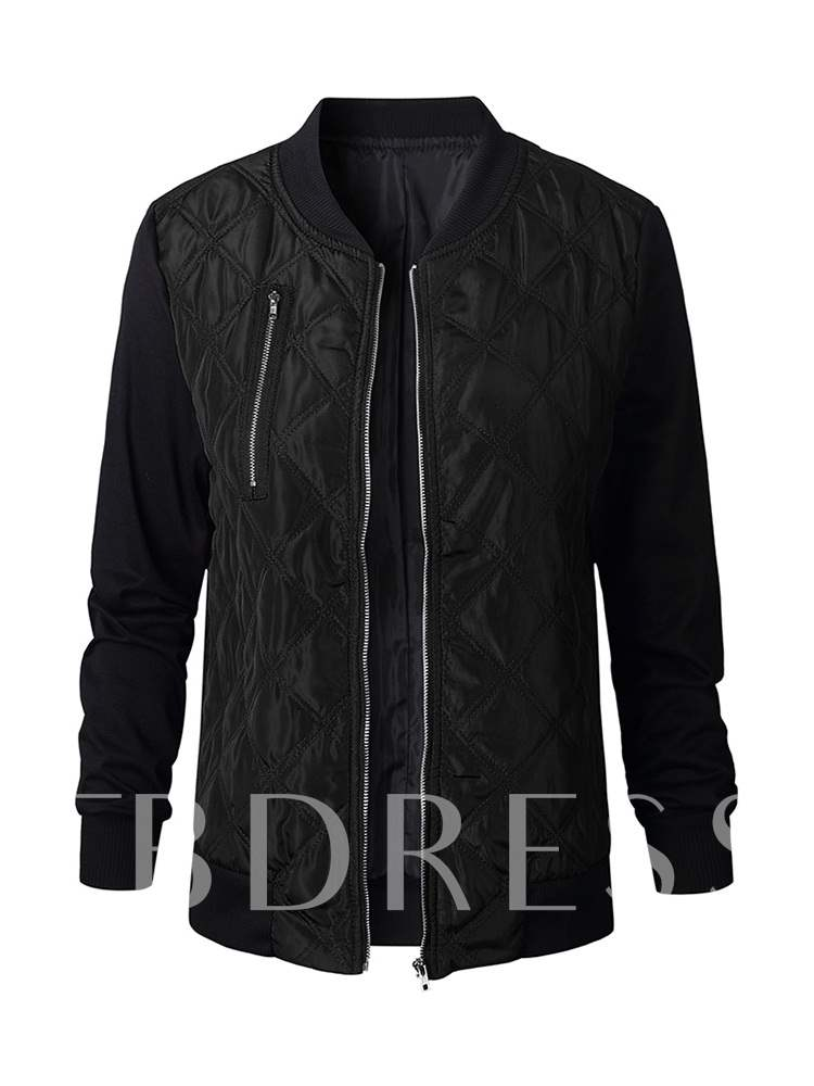 Buy Zipper Contrast Color Stand Collar Women's Jacket, Spring,Fall, 13349913 for $13.24 in TBDress store