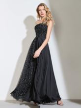 A-Line One-Shoulder Appliques Beaded Prom Dress