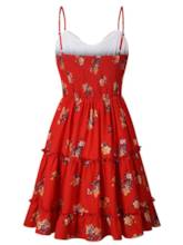 Strappy Knot Floral Women's Party Dress