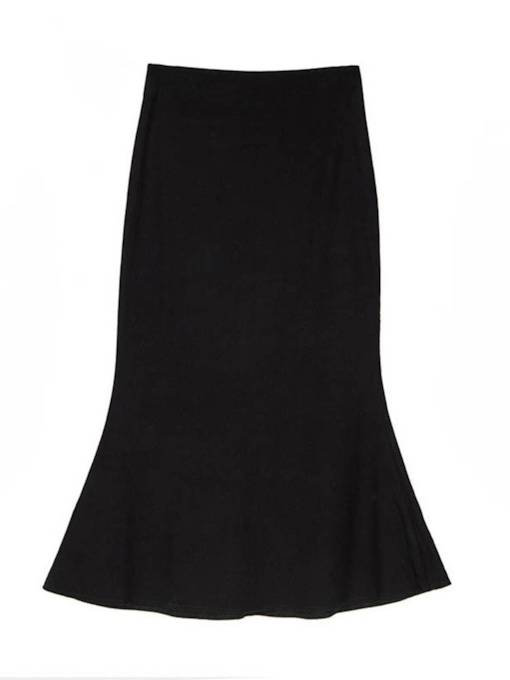 Ruffle Bodycon Women's Maxi Skirt