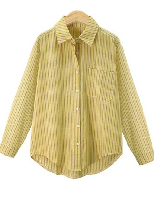 Stripe Button Down Stripe Women's Shirt