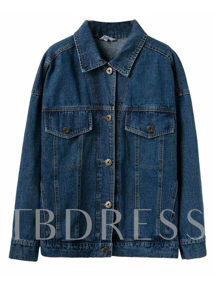 Buy Retro Button Down Dual Pocket Women's Denim Jacket, Spring,Fall, 13352842 for $27.13 in TBDress store