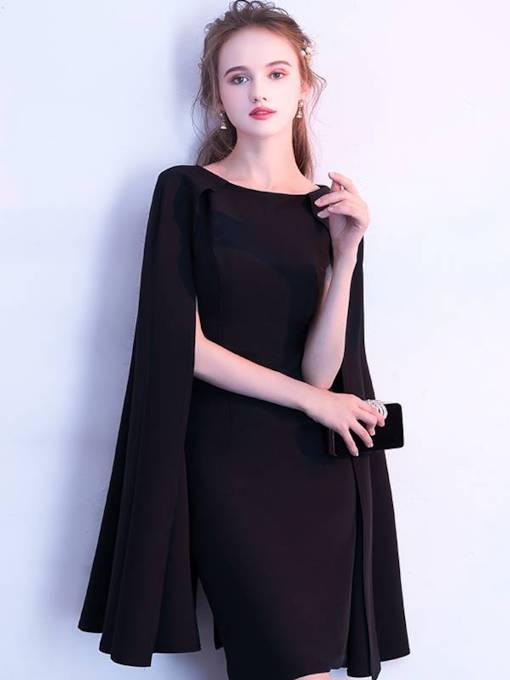 Sheath Jewel Long Sleeves Homecoming Dress