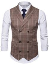 Plaid Classic Slim Men's Vest