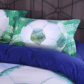 Soccer Stadium and Field Printed Cotton 4-Piece 3D Bedding Sets/Duvet Covers