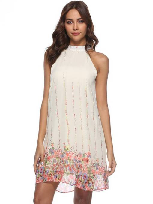 Summer Prints Sleeveless Casual Dress