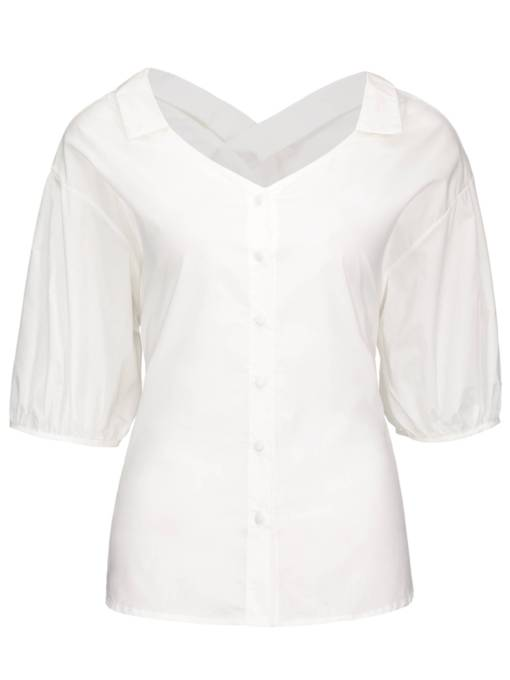Mesh Double Layered Off Shoulder Women's Blouse