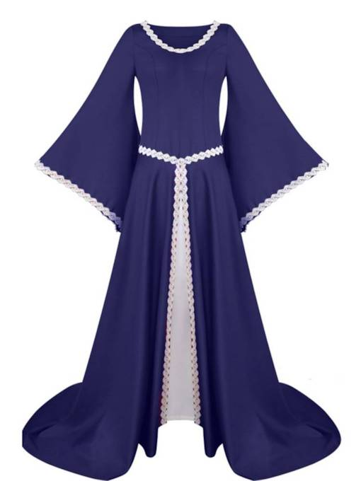 Renaissance Medieval Gothic Long Sleeved Dress