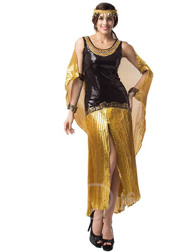 Slit Up Bling Arab Girl Halloween Costume