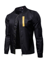 Stand Collar Color Block Men's Jacket