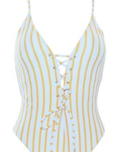 Lace-Up Hollow line One-Piece Swimsuits