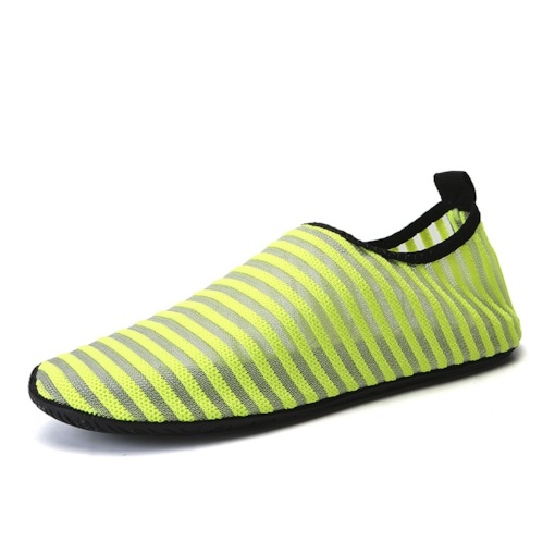 Mesh Round Toe Stripe Lightweight Beach Water Shoes