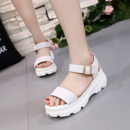 Open Toe Ankle Strap Platform Casual Comfy Women's Sandals