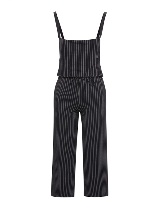 Elastic Waist Striped Women's Jumpsuit