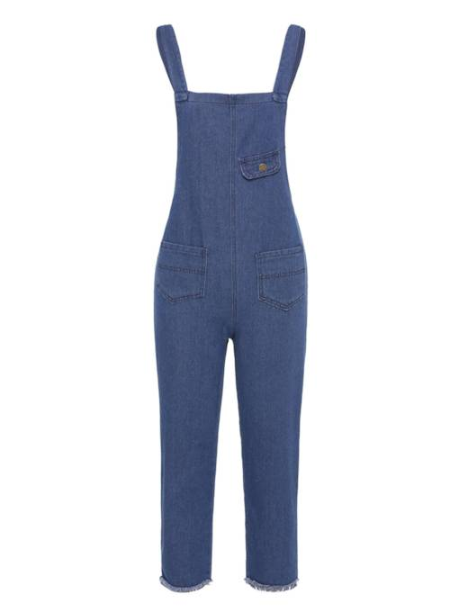 Denim Edge Loose Women's Overalls