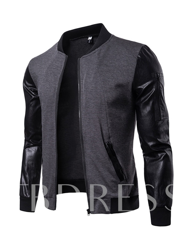 England Style Patchwork Slim Men's Jacket