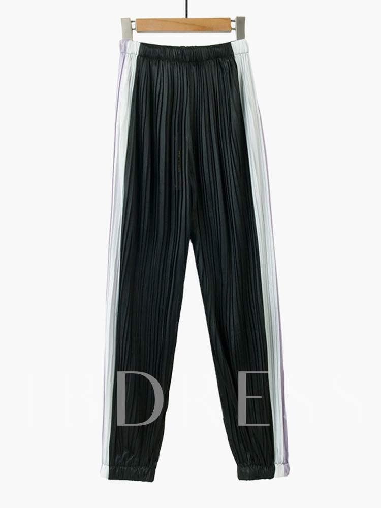 Buy Color Block Pleated Women's Harem Pants, Summer, 13354346 for $8.09 in TBDress store