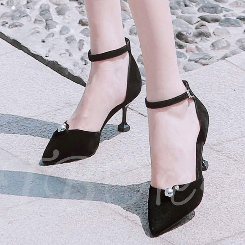 Buy Spool Heel Pointed Toe Heel Covering Ladylike Women's Pumps, Spring,Summer,Fall, 13353843 for $35.12 in TBDress store