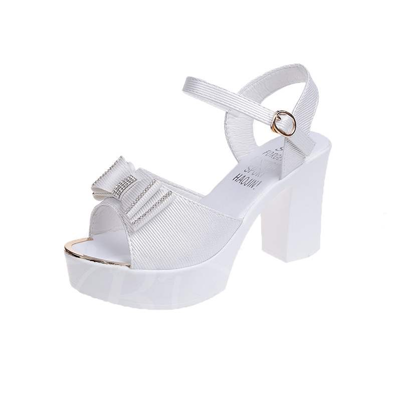 Buy Ankle Strap Buckle Bow Rhinestone Platform Women's Sandals, Summer, 13353840 for $32.04 in TBDress store