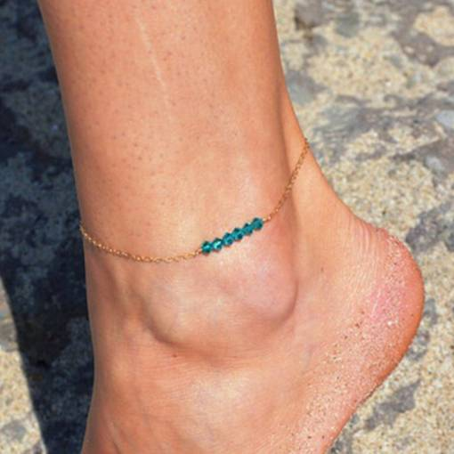 Beads Alloy Chain Simple Anklet