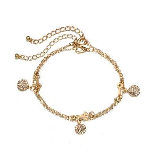 Bling Bling Simple Double Anklets