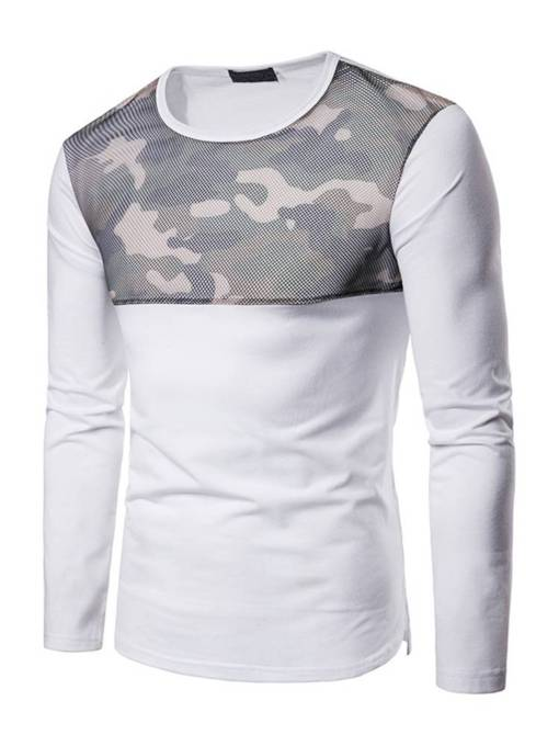 Camouflage Mesh Patchwork Men's T-Shirt