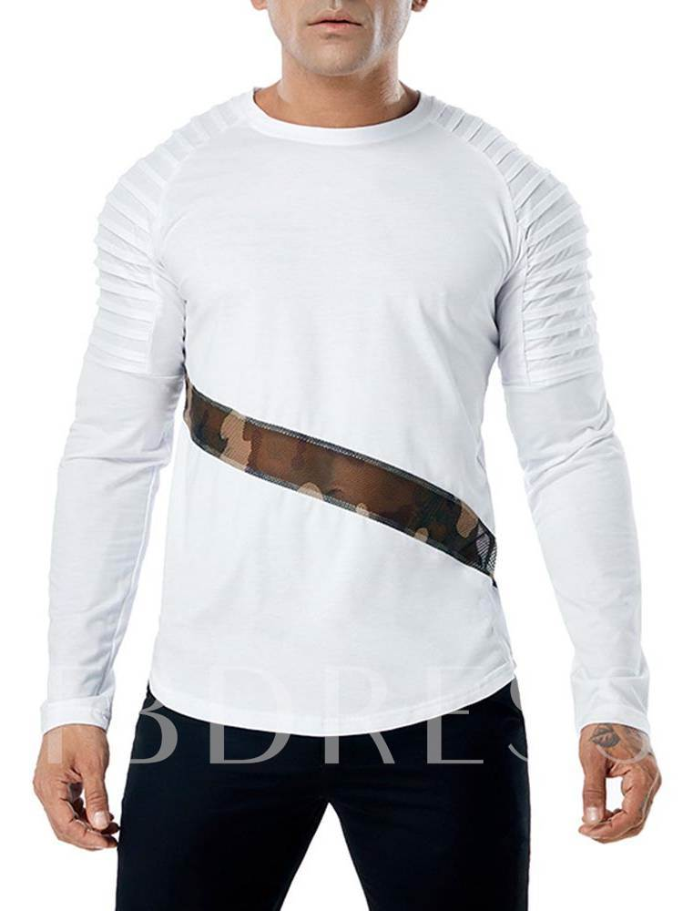 Camouflage Mesh Plain Men's T-Shirt