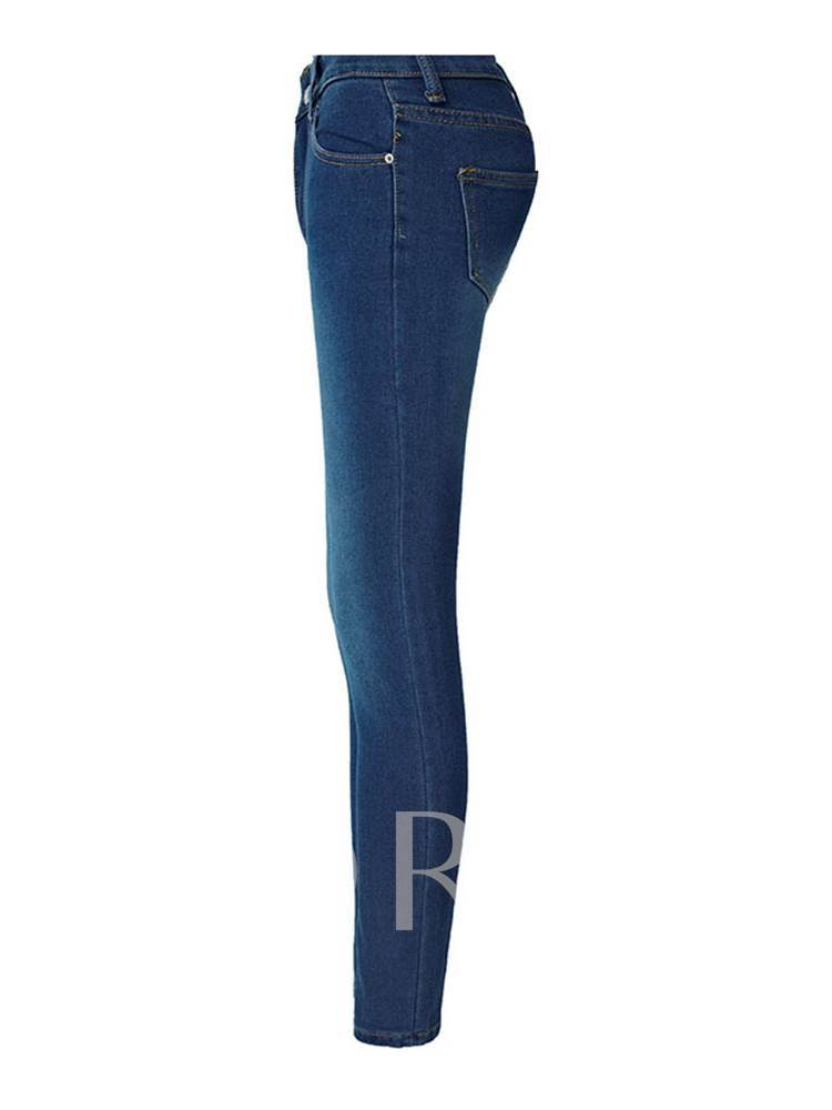 Denim High Waist Slim Fit Women's Jeans