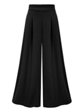 Wide Legs Pleated Women's Casual Pants