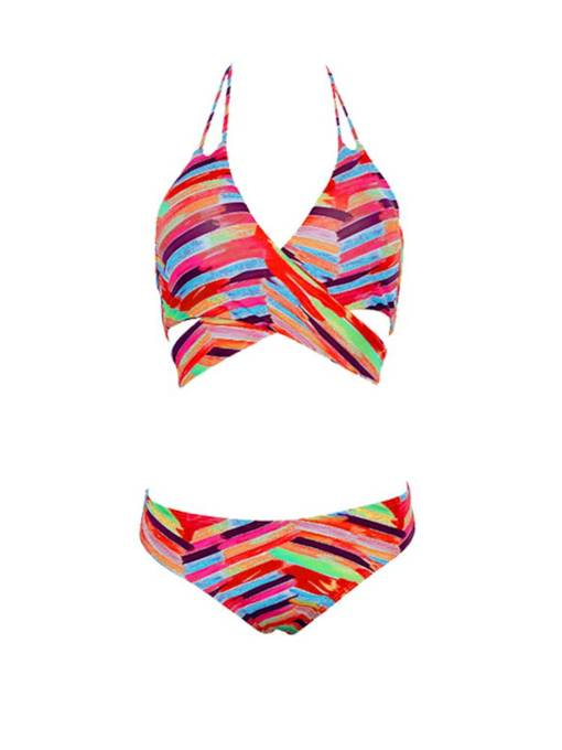 Hand Painted Fashion Halter Bikini