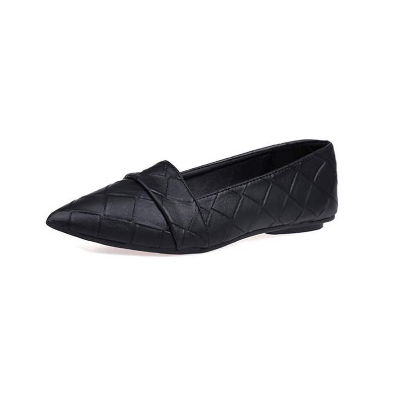Buy PU Pointed Toe Block Heel Slip-On Comfy Women's Flats, Spring,Summer,Fall, 13357099 for $21.99 in TBDress store