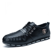 Lace-Up Hollow Round Toe Casual Men's Loafer Boat Shoes