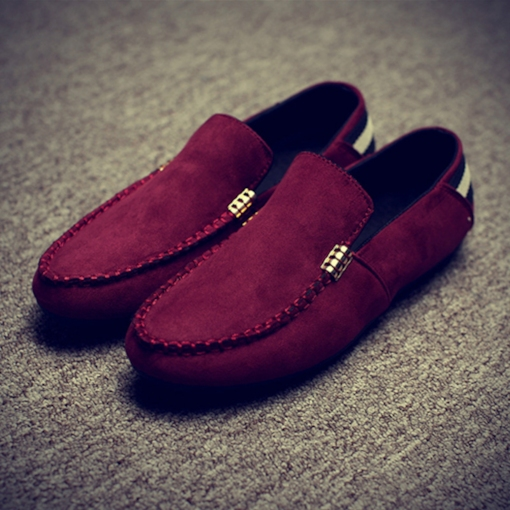 Round Toe Suede Slip-On Elegant Men's Loafers