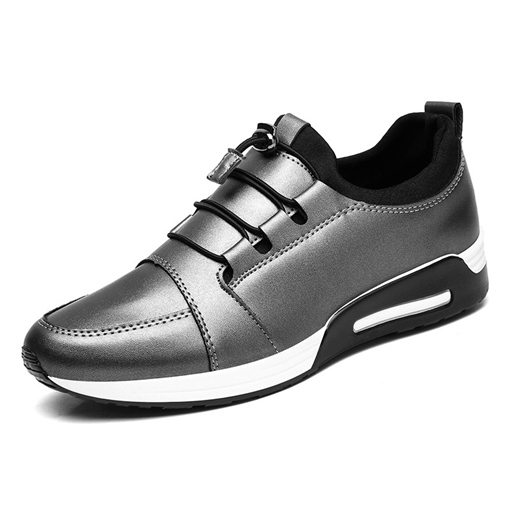 Elastic Band Round Toe Casual Lightweight Men's Sneakers