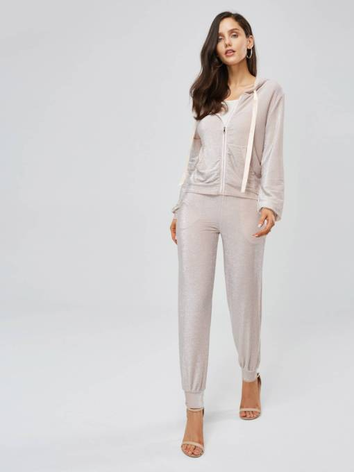 Long Sleeve Cardigan and Pants Women's Two Piece Set