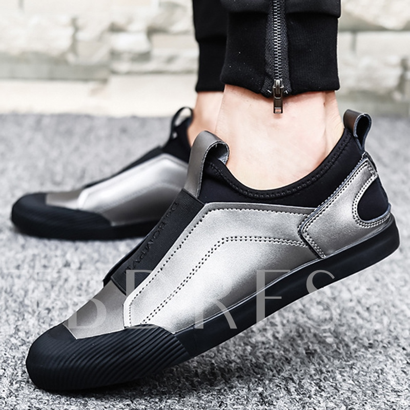 Slip-On Patchwork Unique Men's Sneakers