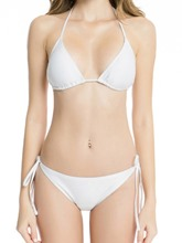 Plain Halter Lcee Up Sexy Bikini Bathing Suits
