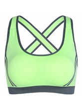 Seamless Gathering Women's Sports Bra