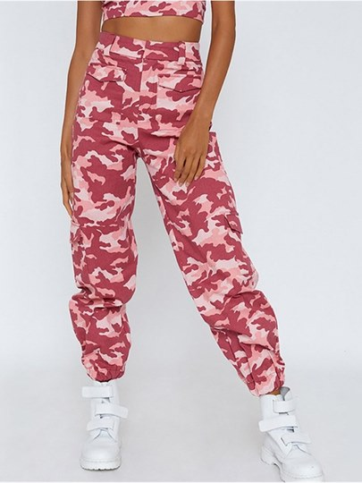 Loose Full Length Women's Camouflage Trousers