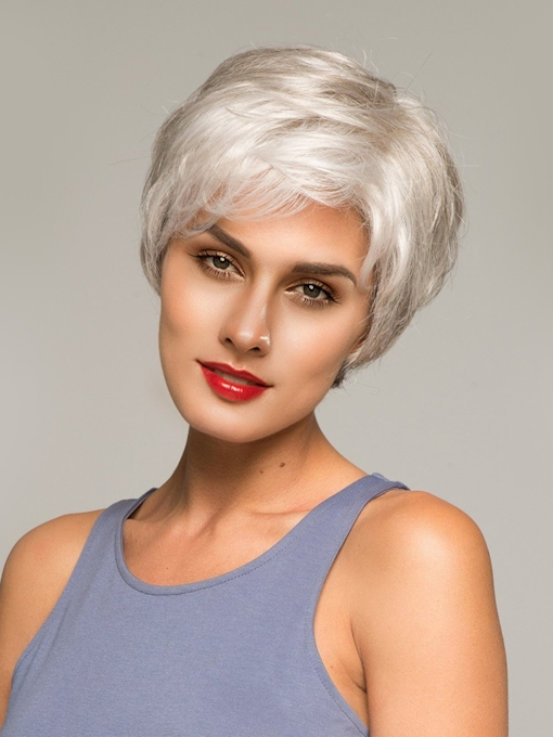Short Curly Fashionable Synthetic Hair Capless Wigs 8Inches