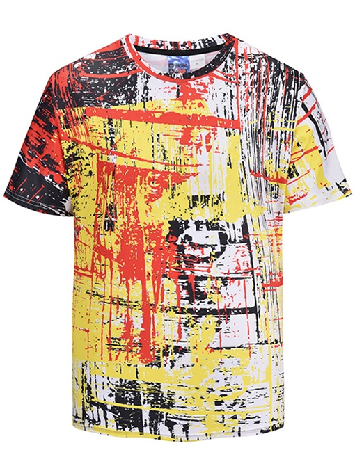Scrawl Print Loose Men's T-Shirt