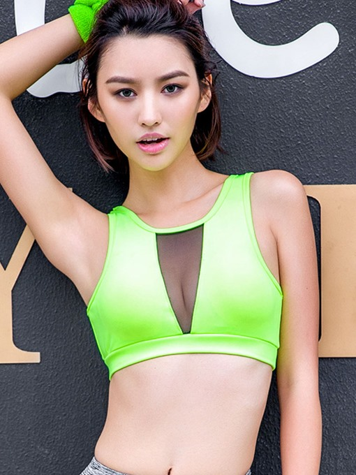 New Quick-drying Mesh Breathable Yoga Fitness Sport Bra