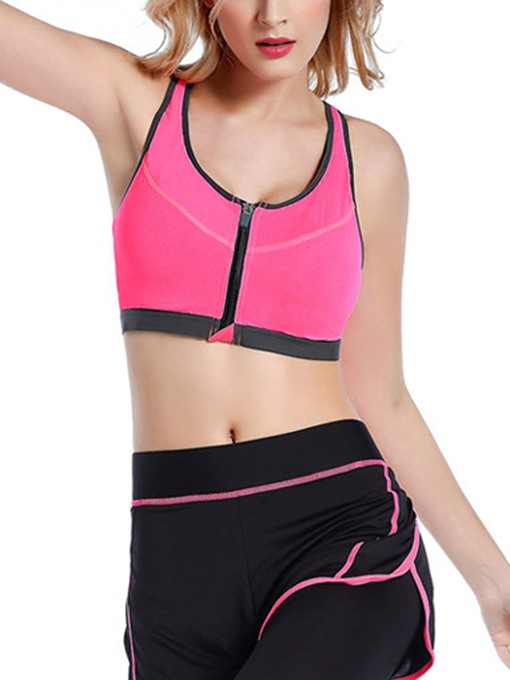 Front Zipper Yoga Running Rimless Fitness Sports Bra